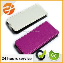 flip cover leather case for iphone 5/5s ,cell phone case, phone accessory