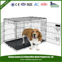 China manufacture wholesale sloping pet crate / dog cage steel for car / dog carriers (factory)