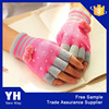 2015 Newest women heated acrylic knitted fingerless gloves