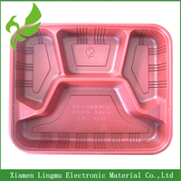 Take Away Disposable Plastic Food Container With Clear Lid.