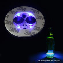 led paper coaster pad/ led foam cup mat with high quality