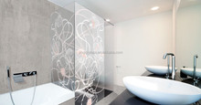 High-artistic growing-roman design printed glass for shower room