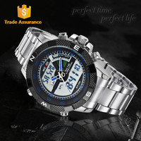 WEIDE LCD Japan Movt Stainless Steel Back Sr626SW Watch WH1104