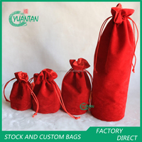 custom different size round bottom wine bottle bags