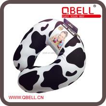 Milk Cow Print Foam Particle Filling Travel Neck Pillow