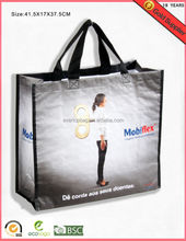Durable and fashion printing recycled pp woven handbag