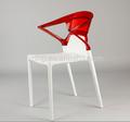 nuevo diseñoitaliano moderno apilable silla de plástico para sala de estar