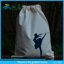 custom reusable drawstring cotton shoe bag