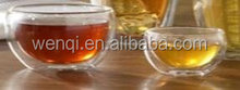 pyrex clear double wall glass thermos cup