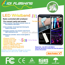 Printable led wristbands by radio control for promotional activities