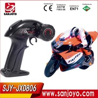 1:16 Full Scale 4CH 2.4G RC Racing Motorbike model Electric Toys Radio Control Motorbike JXD-806