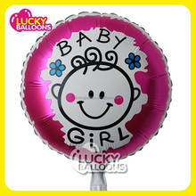 2015 newest hot sale event & party supplies baby girl custom shape helium foil balloon, party foil balloon