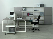 Germany office furniture with wooden partition