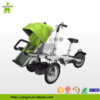Most Comfortable Aluminum Folding Baby Stroller Bicycle Cargo Tricycle With Three Wheels