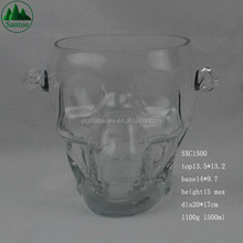 1500ml Skull Glass Ice Bucket and Tongs
