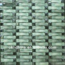 Stone blend glass mosaic tile