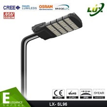 high power waterproof ip66 led street light 160w with Classic black housing