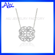 cheap wholesale silver initial letter necklace