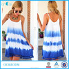 Hot New Products for 2015 Women Summer Dresses Rayon Tie Dye