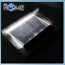 Black Night Flat Led Book Light , Camping Book Reading Light