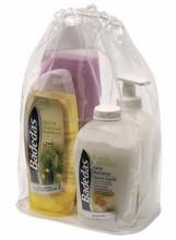 promotional clear plastic string bag , plastic drawstring bag