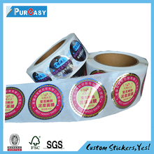Terrific printing glossy sticker with laminating