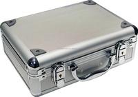 Hard aluminum dental instruments carry storage case