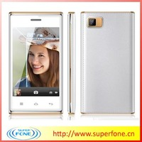 New Model! 4inch Best Android Smartphone 64Mb+64Mb Big memory Slim Leather Style PDA mobile phone
