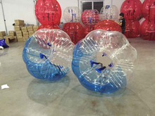 TPU material 0.8 mm football soccer games, body zorb body bubble ball,bubble soccer