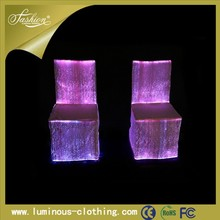 2015 waterproof fiber optic chair cover,table cloth,chair sash,table runner,lycra band for wedding,hotel and event