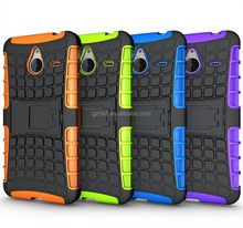 2015 Newfashioned TPU+PC 2-in-1 combo armor case for Nokia Lumia 640 XL stand cover