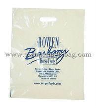 Vietnam die cut bag/punch out handle bag/plastic shopping bag