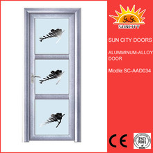 Total light proof frosted glass aluminum door SC-AAD034