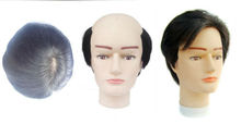Thin PU injection 100% indian human remy hair lace toupee for men