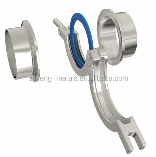 Sanitary pipe weld ferrule tri clamp ptfe gasket set