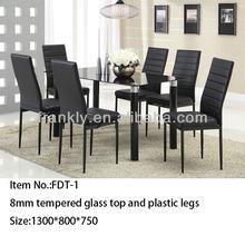 Moderno e barato mesa de jantar e cadeira/1table+6 cadeiras de sala de jantar conjunto