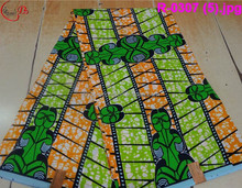 R-0307 African style 6 yards each piece high quality Real wax printed fabric
