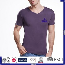 made in China OEM custom logo various color good price v-neck t-shirt