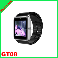 GT08 Clock Sync Notifier With Sim Card Bluetooth Connectivity IOS Android Phone mobile phone support multi-languages