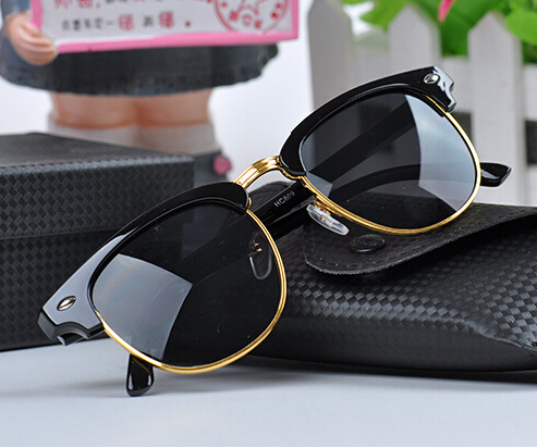 Wayfarer Half Rim Sunglasses  men women retro half frame sunglasses wayfarer frame glasses brand