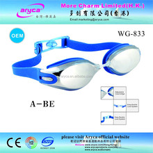 High Quality Creative Blue Silicone mirror coated adult Swim Goggles