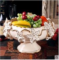 European style hand made high grade ceramic fruit plate for home deco