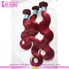 Wholesale wave hair 100% remy virgin hair ectension color burg peruvian aliexpress hair