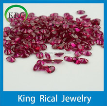 Synthetic ruby stone oval shape faceted cut loose ruby gems