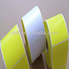 Blank Sticke Paper Roll Customized Colourful