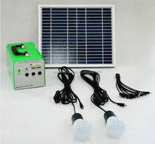 factory original 10W solar portable system wildely used as home lighting