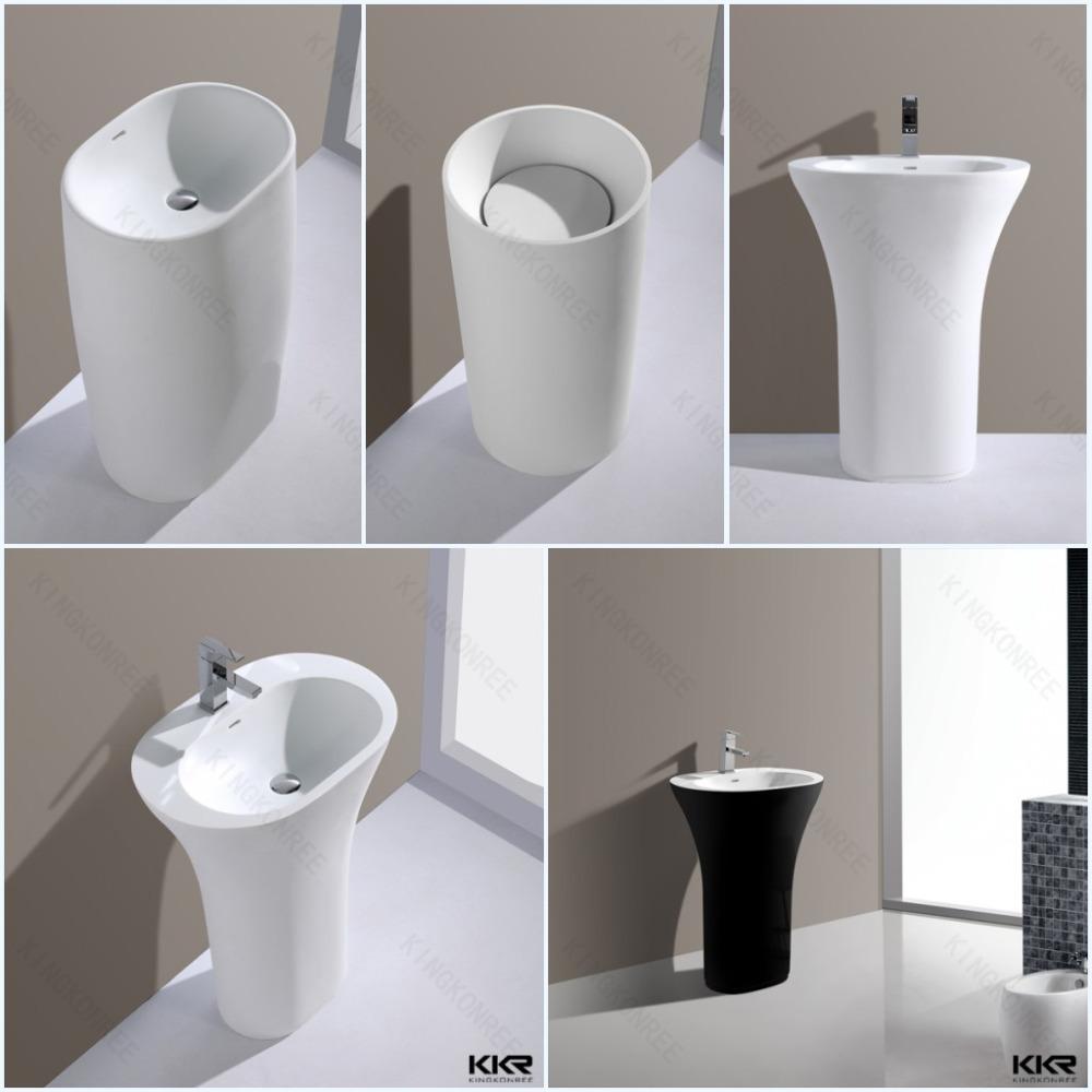 Diferente tipo de superf cie s lida lavat rio com pedestal for Jaquar bathroom designs