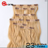 Good Quality Brand Name 160g 180g 200g double drawn clip in triple weft remy hair extensions wholesale price
