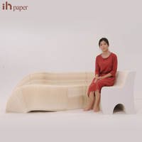 W655312 Modern Appearance Extraordinary Brand Ihpaper Office Resting Soft Natural Floor Sofa