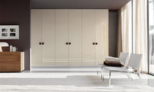 High end bedroom wood wardrobe with louvered doors
